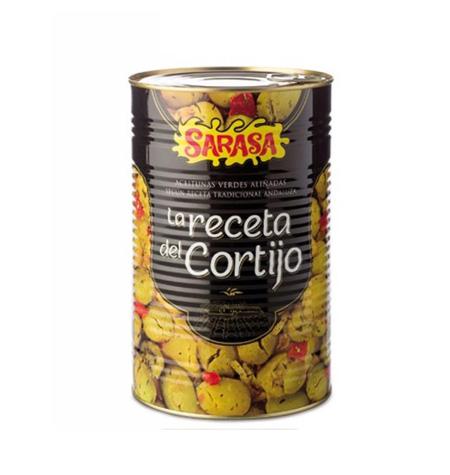 Aceituna Aliñada Sarasa Cortijo Lata 5 Kg - Distribuidor en Salamanca