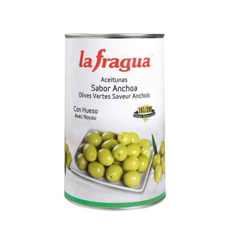 Aceituna Sabor Anchoa sin hueso la fragua Lata 5kg - Distribuidor en Salamanca