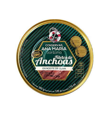 Anchoa en Aceite de Oliva Ana Maria Santoña RO-550 - Distribuidor en Salamanca