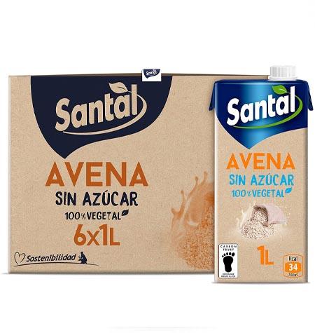 Bebida de avena Santal brik 1 litro paquete 6 uds