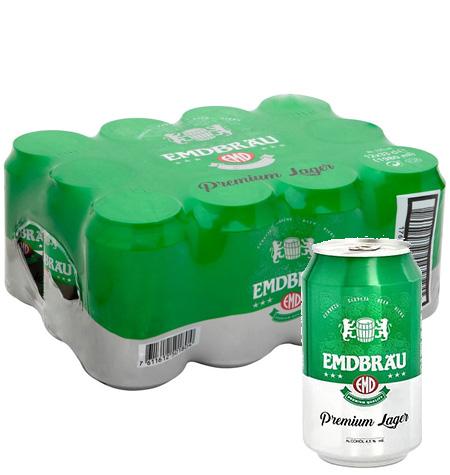 Cerveza EMDBRAU 33 cl Pack 24 latas
