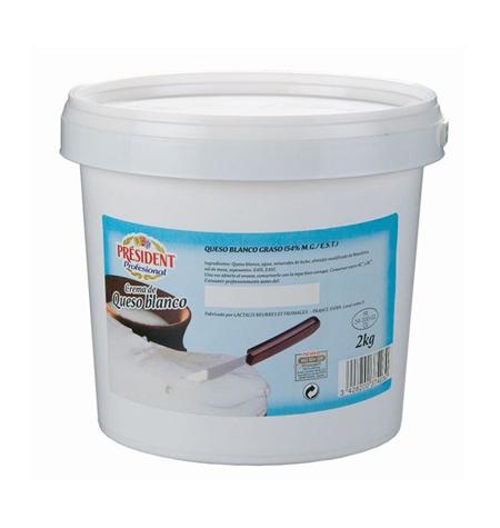 Crema de Queso President Cubo 2kg - Distribuidor en Salamanca