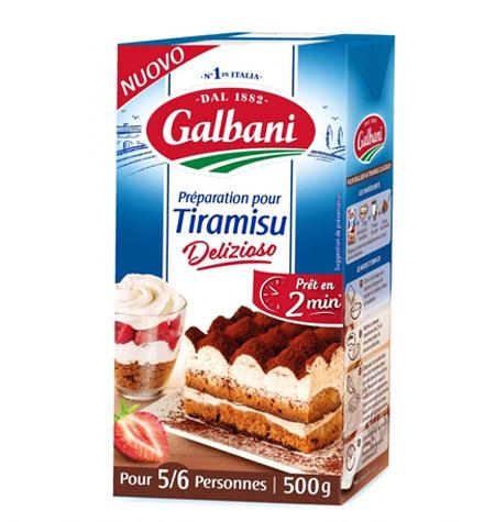Preparado para tarta Tiramisu Galbani - 1Litro