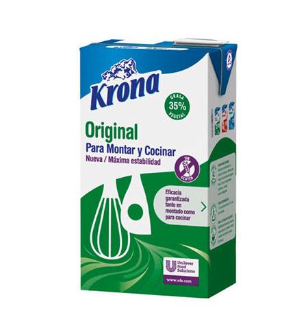 Krona Original derivado lácteo para montar y cocinar Sin gluten brik 1L - Distribuidor en Salamanca