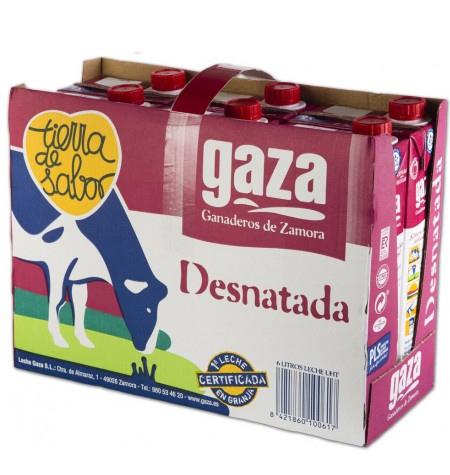 Leche Gaza Desnatada Brik 6 x 1Litro
