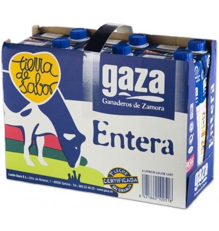Leche Gaza entera pack 6 x 1litro
