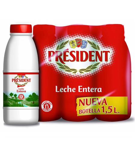 Leche President Hostelería 1,5 litros pack 6