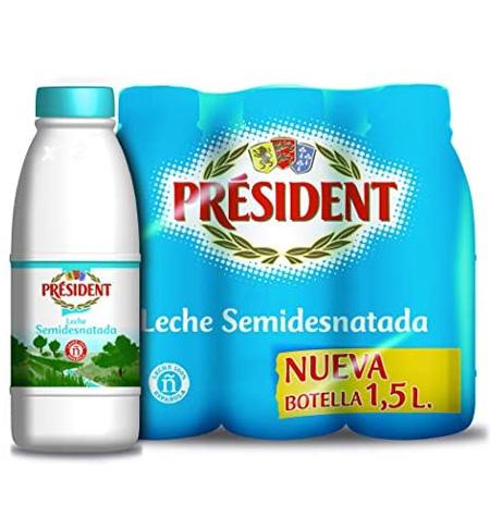 Leche President Hostelería Semidesnatada 6 x 1,5 Litros