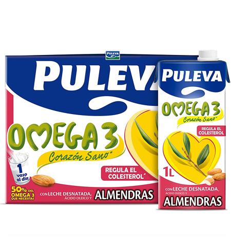Leche Puleva Omega 3 Almendras caja 6uds