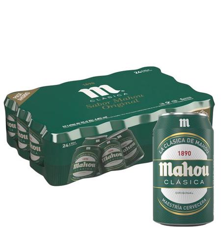 MAHOU cerveza clásica 33 cl Pack 24 latas