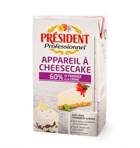 Preparado para Cheescake Tarta de Queso PRESIDENT- 1Litro