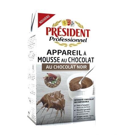 Preparado para Mousse Chocolate PRESIDENT- 1Litro