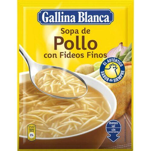 Sopa de Pollo con Fideos Gallina Blanca 70g