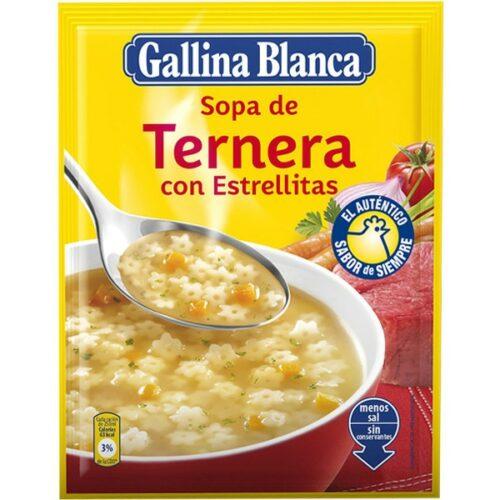 Sopa de ternera con estrellas Gallina Blanca 70 gr
