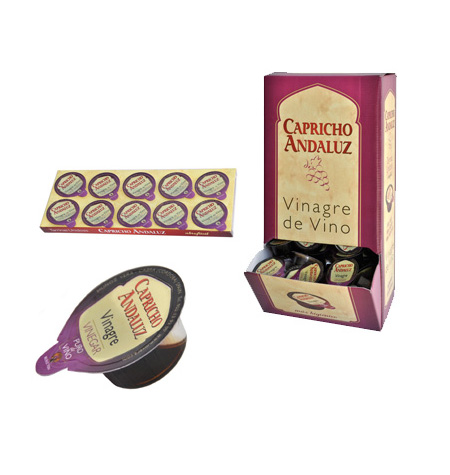 Vinagre de Vino Blanco Capricho Andaluz (Monodosis) - Distribuidor en Salamanca