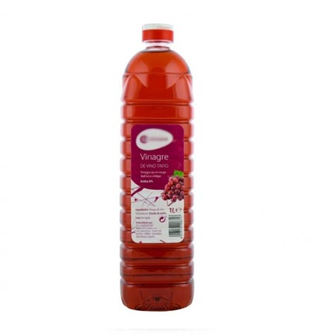 Vinagre de vino tinto pet 1 litro