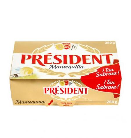 Mantequilla PRESIDENT 250g
