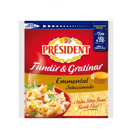 queso rallado emmental president 150g